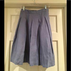 100% linen Talbots pleated skirt size 4P